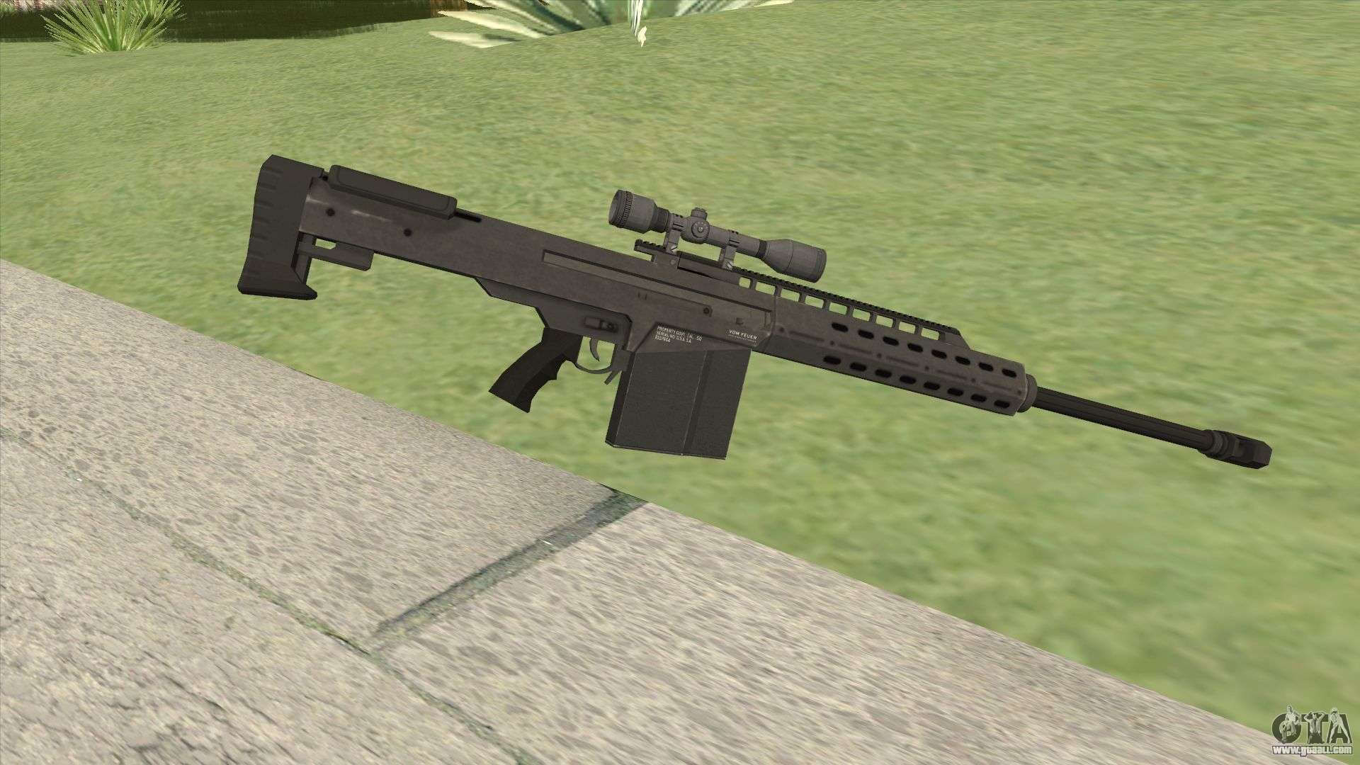 Heavy Sniper Gta V  Black  V3 For Gta San Andreas