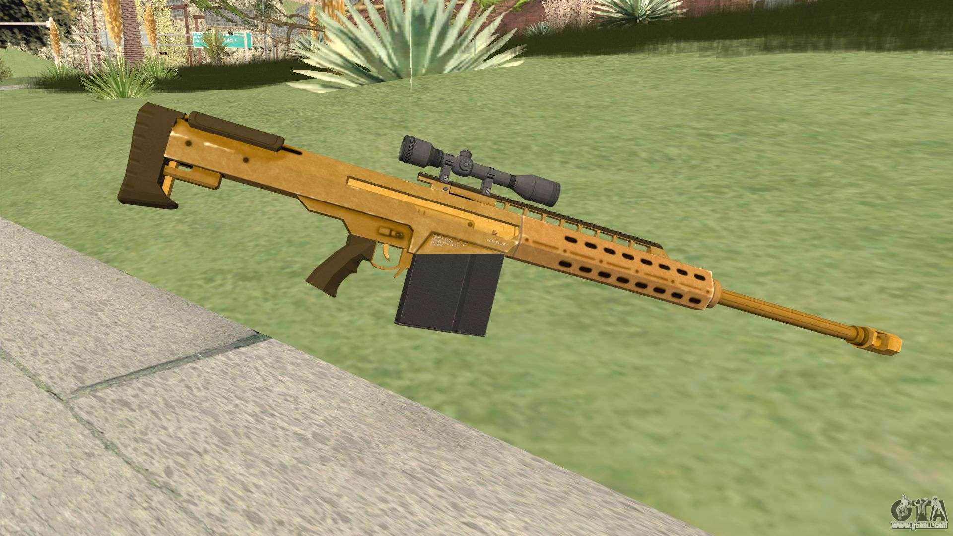 Heavy Sniper Gta V  Gold  V3 For Gta San Andreas