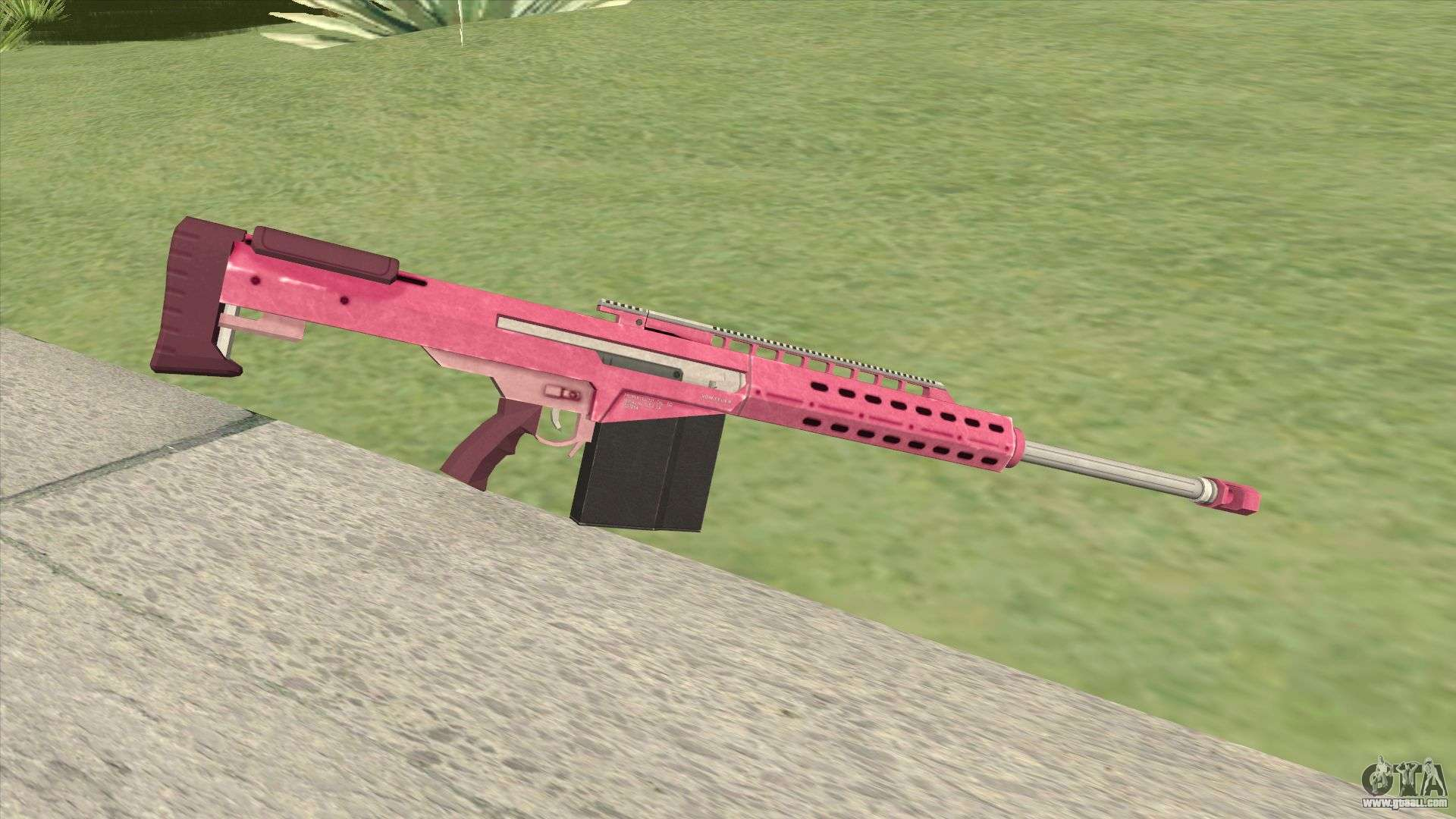 Heavy Sniper Gta V  Pink  V2 For Gta San Andreas