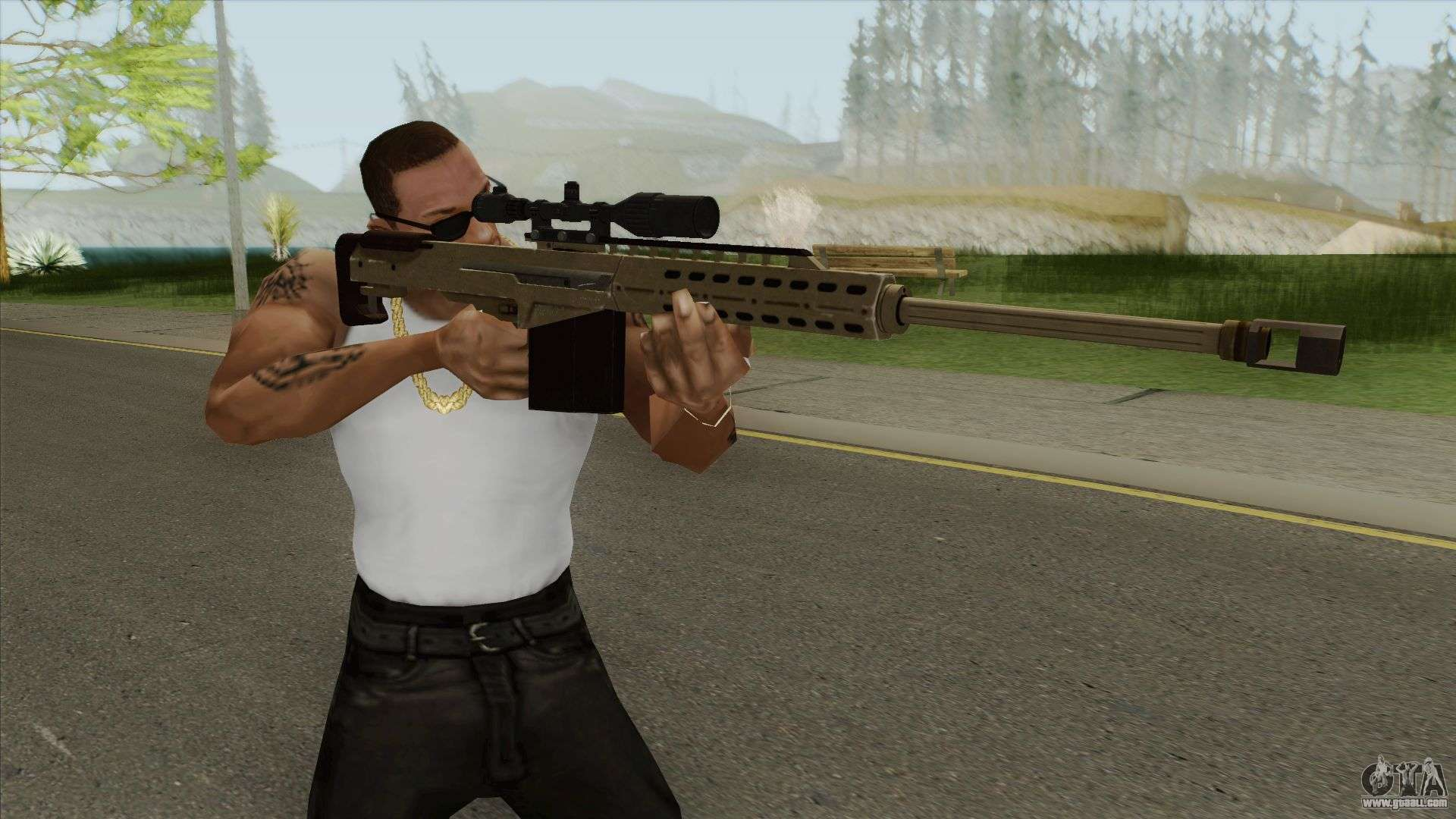 Heavy Sniper Gta V  Army  V1 For Gta San Andreas