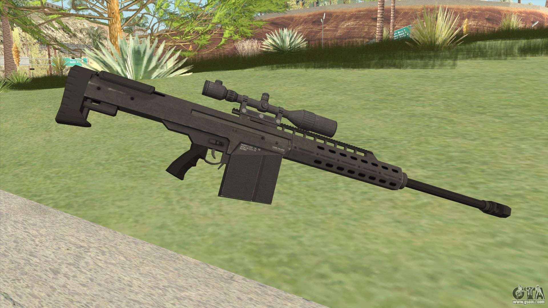 Heavy Sniper Gta V  Black  V1 For Gta San Andreas