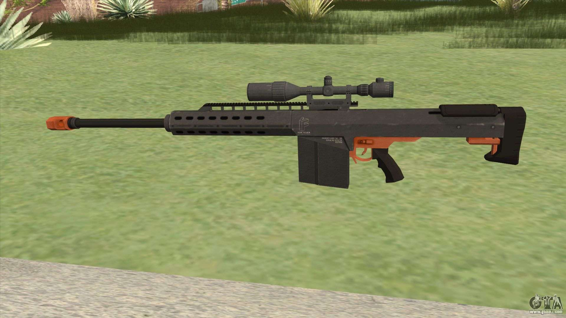 Heavy Sniper Gta V  Orange  V1 For Gta San Andreas