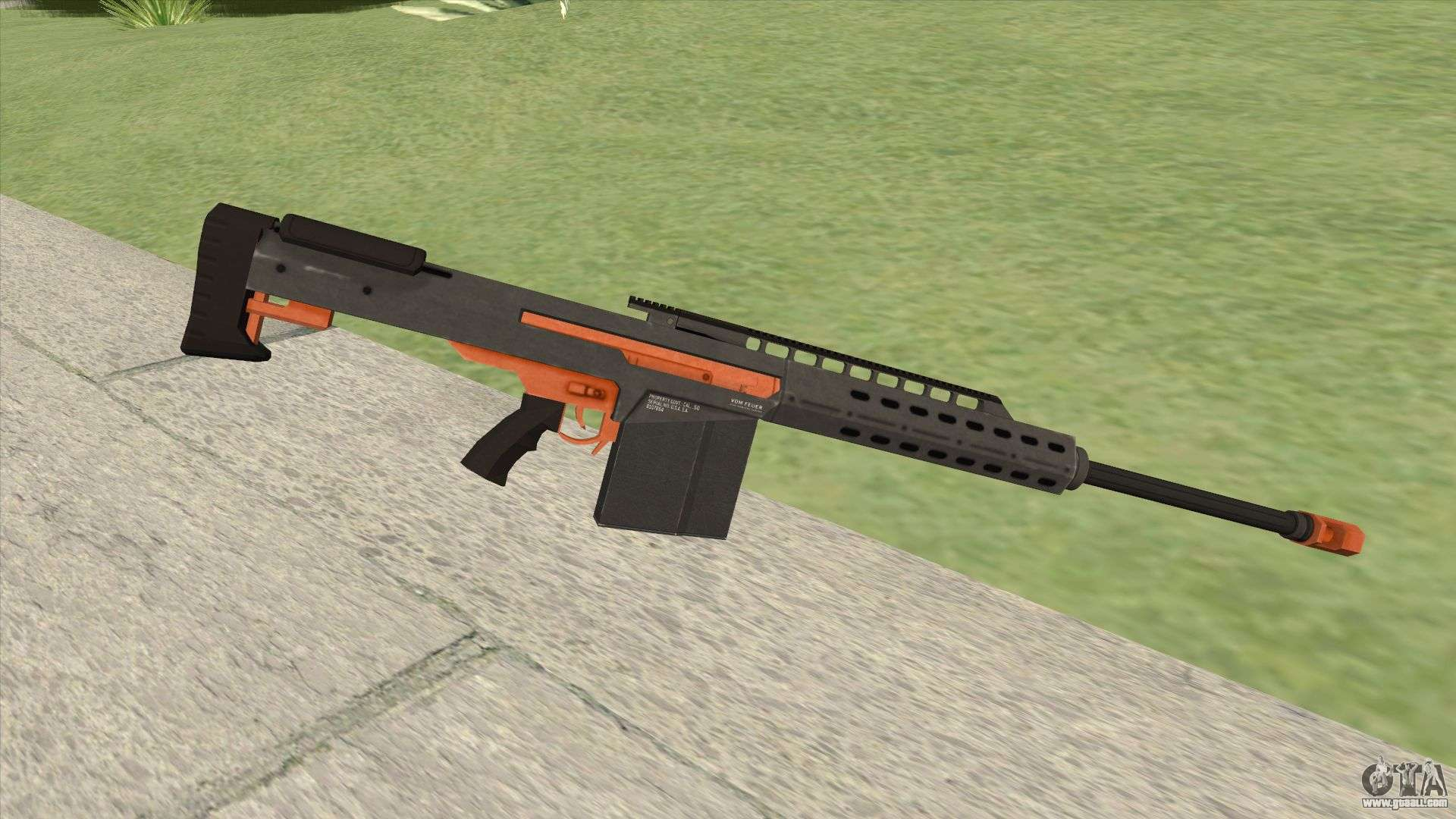 Heavy Sniper Gta V  Orange  V2 For Gta San Andreas