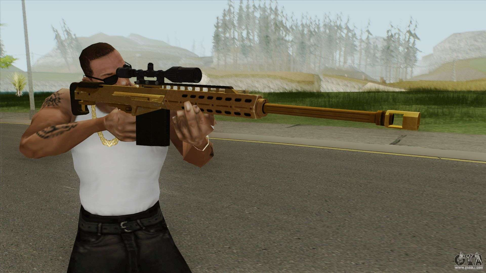 Heavy Sniper Gta V  Gold  V1 For Gta San Andreas
