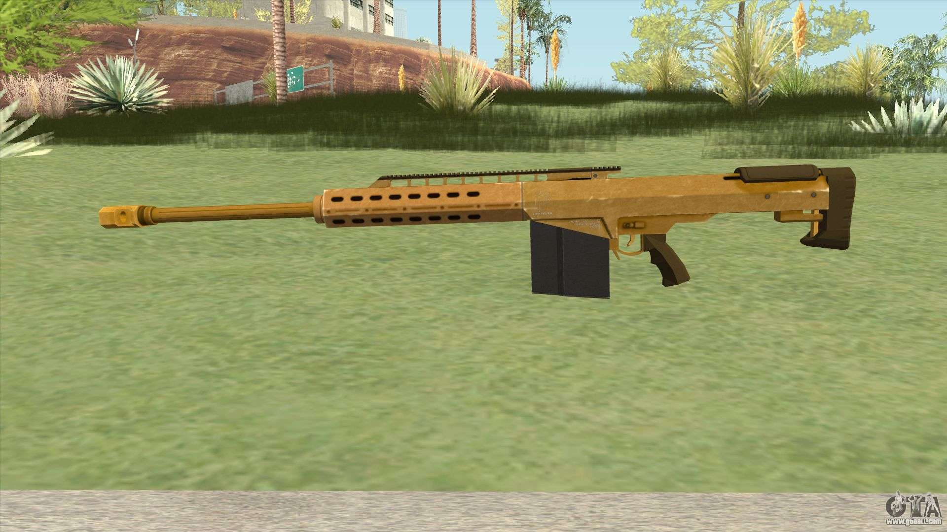 Heavy Sniper Gta V  Gold  V2 For Gta San Andreas