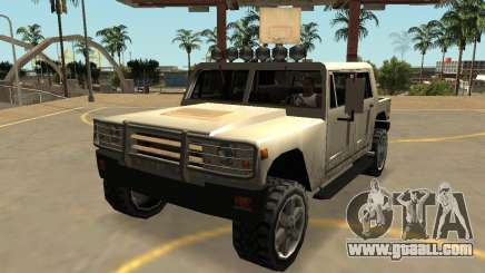 Mammoth Patriot Civil with badges & extras for GTA San Andreas