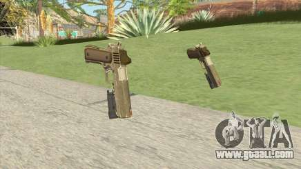 Heavy Pistol GTA V (Army) Flashlight V1 for GTA San Andreas