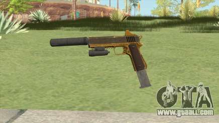 Heavy Pistol GTA V (Gold) Full Attachments for GTA San Andreas