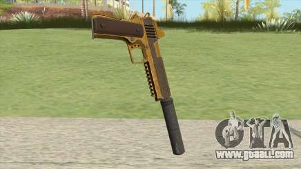 Heavy Pistol GTA V (Gold) Suppressor V1 for GTA San Andreas