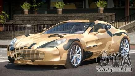 Aston Martin One 77 PJ3 for GTA 4