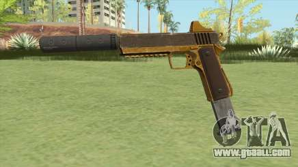 Heavy Pistol GTA V (Gold) Suppressor V2 for GTA San Andreas