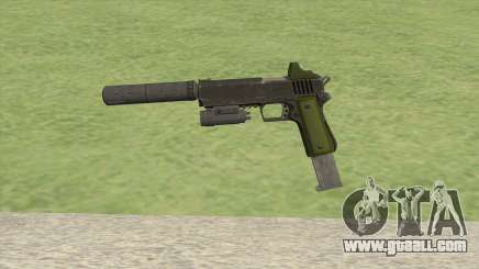 Heavy Pistol GTA V (Green) Full Attachments for GTA San Andreas