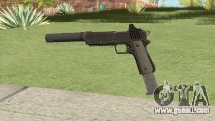 Heavy Pistol GTA V (NG Black) Suppressor V2 for GTA San Andreas