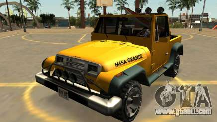 Canis Mesa Grande With Badges & Extras for GTA San Andreas