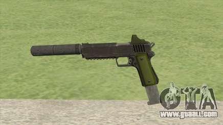 Heavy Pistol GTA V (Green) Suppressor V2 for GTA San Andreas