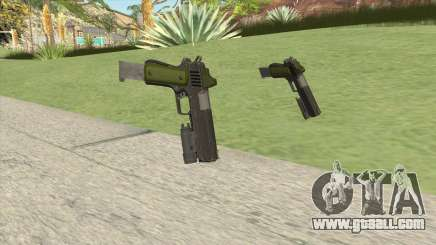Heavy Pistol GTA V (Green) Flashlight V2 for GTA San Andreas