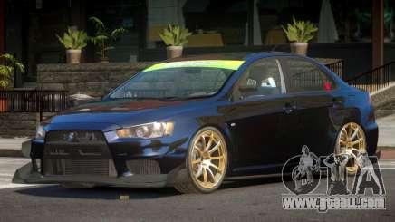 Mitsubishi Lancer X TDI for GTA 4