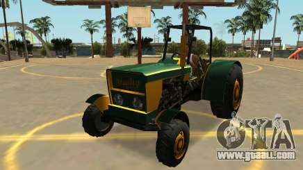 Stanley Tractor with Badges & Extras for GTA San Andreas
