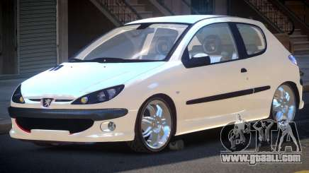 Peugeot 206 1.6i for GTA 4