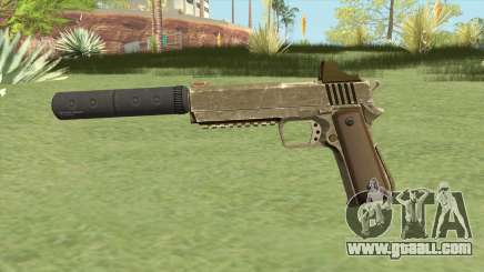 Heavy Pistol GTA V (Army) Suppressor V1 for GTA San Andreas