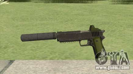 Heavy Pistol GTA V (Green) Suppressor V1 for GTA San Andreas