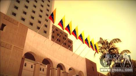 Venezuelan flag at city hall and the police stat for GTA San Andreas