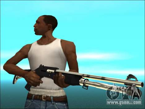 Pak weapons White Gold for GTA San Andreas