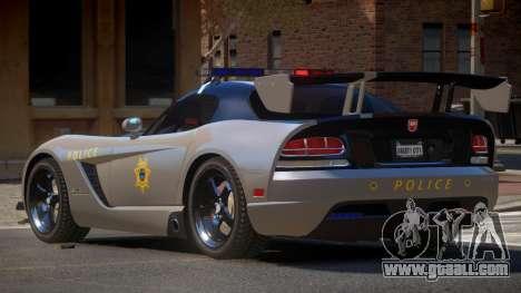 Dodge Viper RT Police for GTA 4