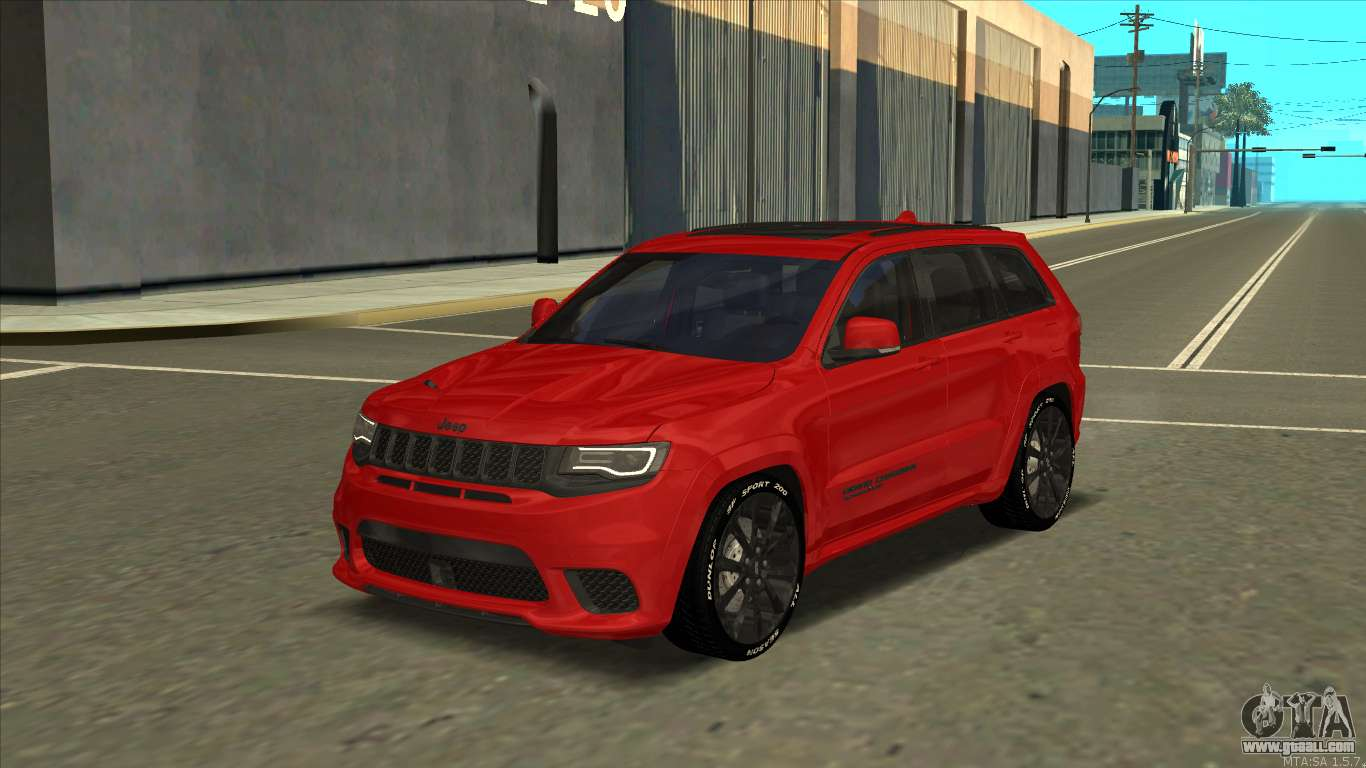 Jeep Grand Cherokee Trackhawk 2018 For Gta San Andreas