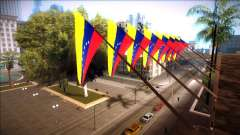 Venezuelan flag at city hall and the police station for GTA San Andreas