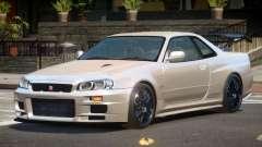 Nissan Skyline R34 GTR ST for GTA 4