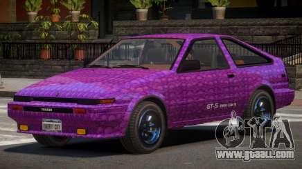 Toyota AE86 GT-S Hatchback PJ2 for GTA 4