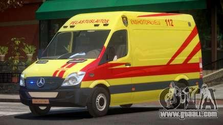 Mercedes Benz Sprinter Ambulance for GTA 4