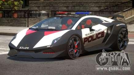 Lamborghini SE Police V1.2 for GTA 4