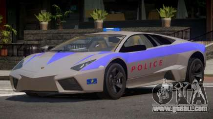Lamborghini Reventon Police for GTA 4