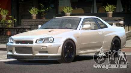 Nissan Skyline R34 E-Style for GTA 4
