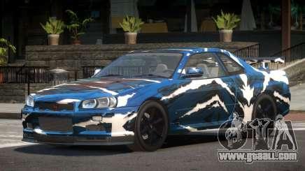 Nissan Skyline R34 L-Tuned PJ1 for GTA 4