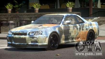 Nissan Skyline R34 E-Style PJ4 for GTA 4