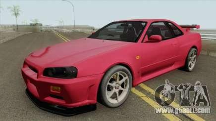 Nissan Skyline R34 GT-R IVF for GTA San Andreas