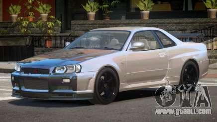 Nissan Skyline R34 E-Style PJ6 for GTA 4