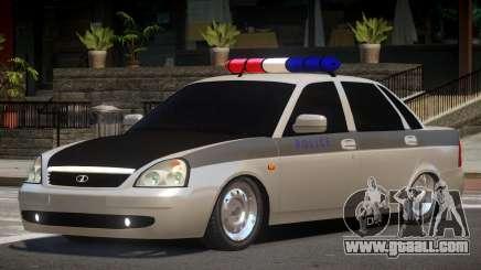 Lada Priora Police V1.1 for GTA 4