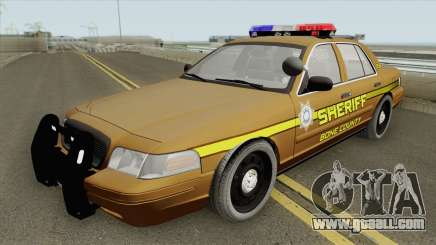 Ford Crown Victoria 2011 (Bone County Sheriff) for GTA San Andreas