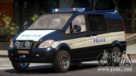 Mercedes Benz Vito Police for GTA 4
