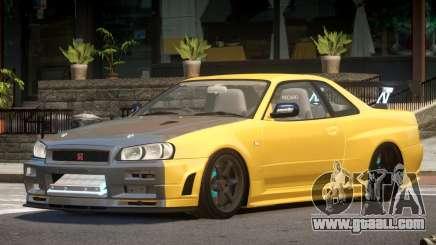 Nissan Skyline R34 S-Tuned for GTA 4