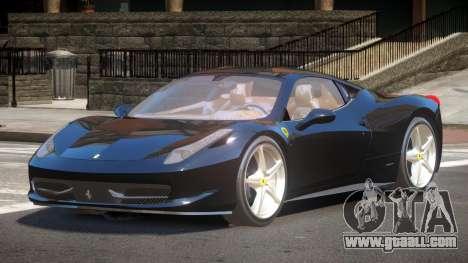 Ferrari 458 JF for GTA 4