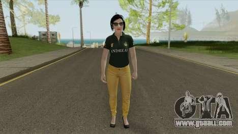 Agatha Barker (Casual) V1 GTA Online for GTA San Andreas