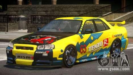 Nissan Skyline R34 D-Style PJ1 for GTA 4