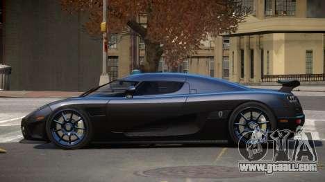 Koenigsegg CCXR TI for GTA 4