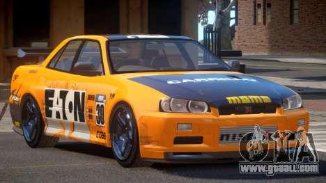 Nissan Skyline R34 D-Style PJ6 for GTA 4