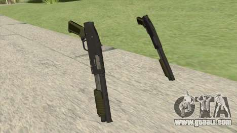 Sawed-Off Shotgun GTA V (Green) for GTA San Andreas